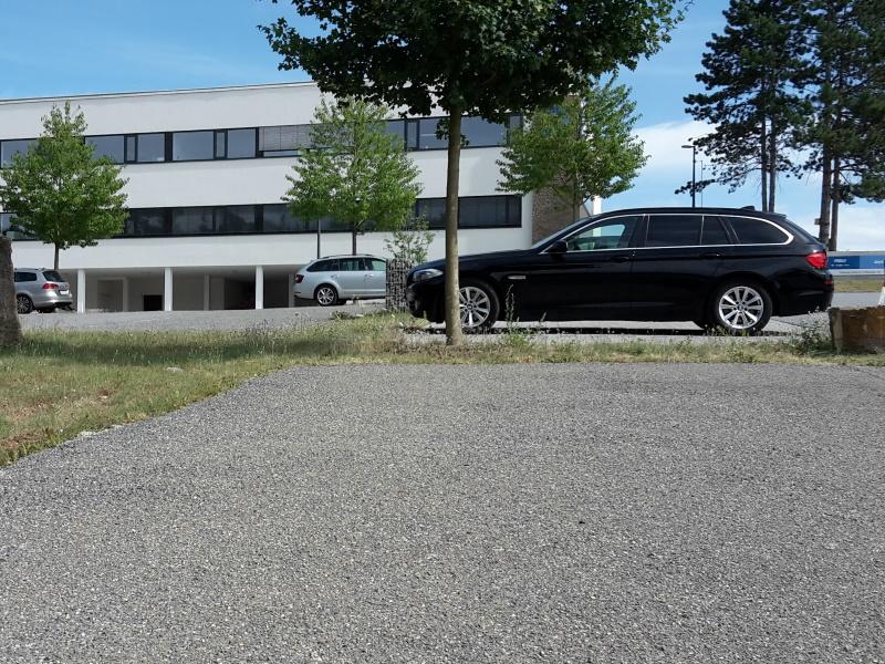 Bau Parkplatz HanseGrand